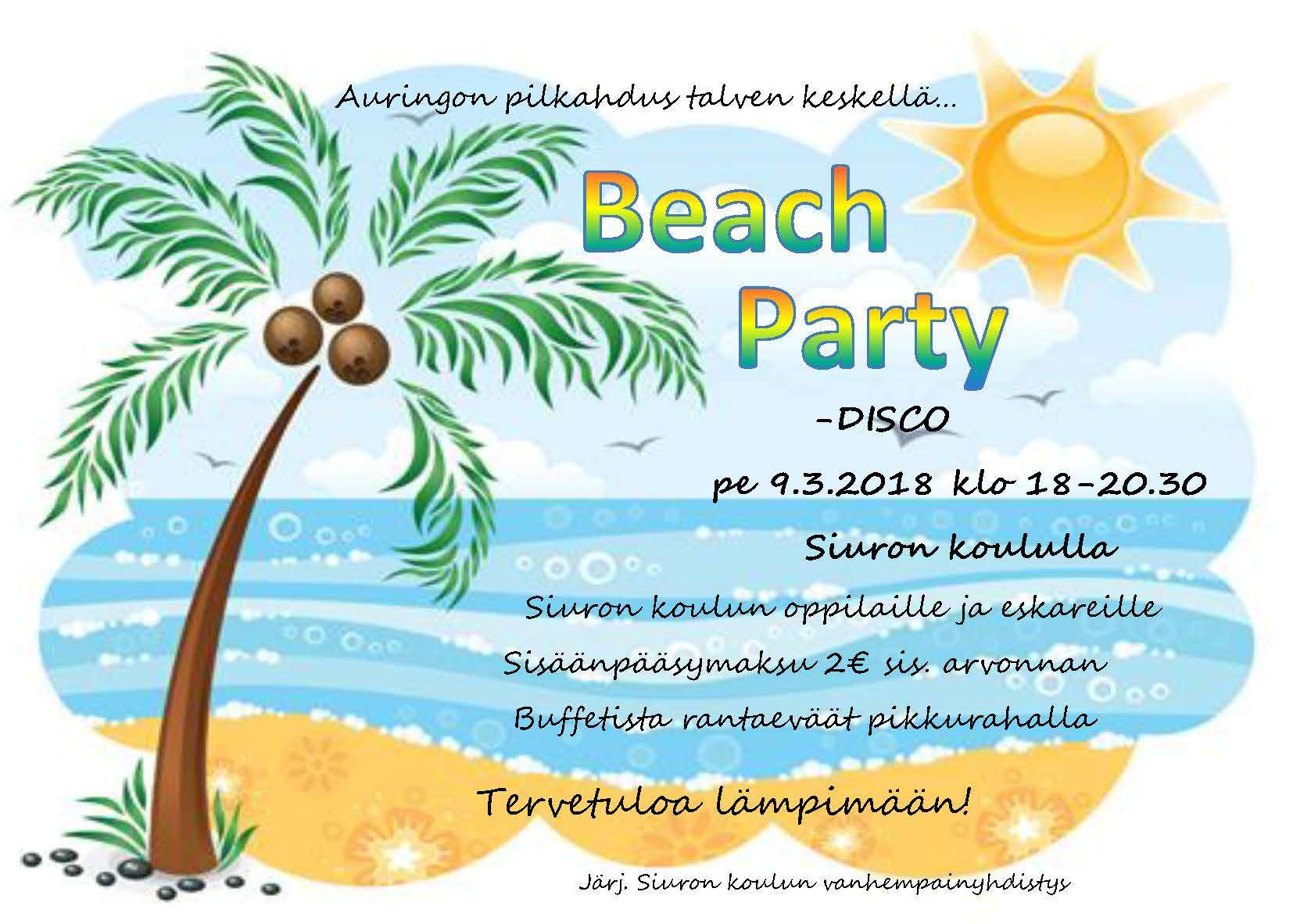 Beach Party kutsu
